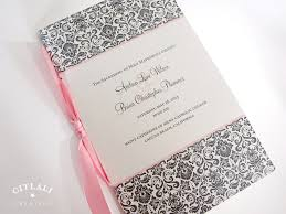 damask booklet multi page wedding programs in pink u0026 gray