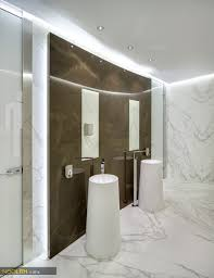 Gray And Brown Bathroom by Check Out This Neolith Bathroom Done With Calacatta Silk And