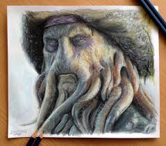 davy jones color pencil drawing by atomiccircus on deviantart
