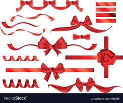 bows and ribbons bows ribbons royalty free vector image vectorstock