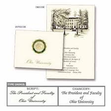 commencement announcements ohio personalized graduation announcements