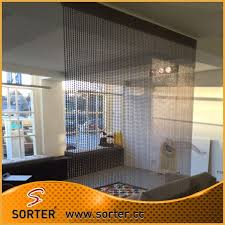 Curtains For Office Cubicles Metal Chain Curtain Room Divider Office Cubicle Curtains For