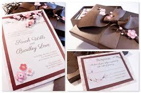 cherry blossom wedding invitations custom musical wedding invitationsmusic box invites