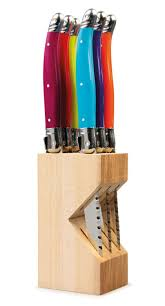 coloured kitchen knives set cks laguiole set of six 6 steak knives knife stainless steel