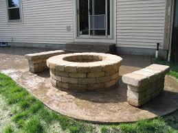 Round Brick Fire Pit Design - exterior best fire pit design alongside concrete deck floor