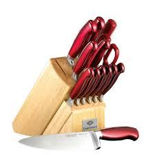 colored kitchen knives hton forge signature 14 argentum knife block set