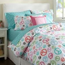 Girls Peace Sign Bedding by Colorful Modern Geometric Bedding Sets Orange Blue Pink Yellow
