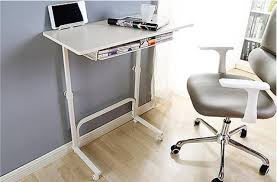desk with shelves on side 80 40cm height adjustable side table laptop desk computer desk with