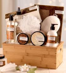 spa gift basket sheer vanilla spa gift basket product containers