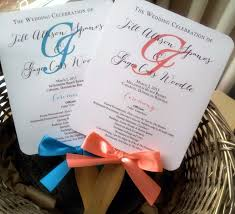 wedding fan program wedding fan invitations invitation ideas