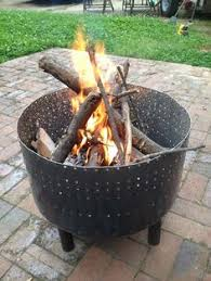 Whalen Fire Pit by Fire Pit From An Old Washing Machine Drum At Night The Light