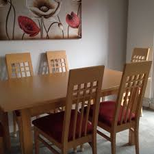 John Coyle Solid Beech Extending Dining Table   Chairs In - Beech kitchen table