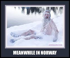 Norway Meme - inspirational meanwhile in norway meme man in snow norwegian humor