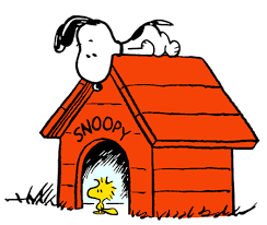 snoopy on his dog house snoopy on top of his doghouse with woodstock sitting in doorway of