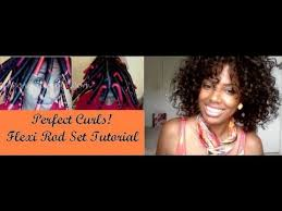 ththermal rods hairstyle flexi rod set on natural hair part 1 youtube