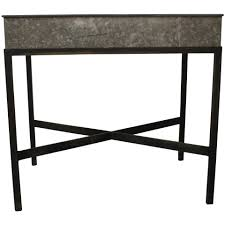 Metal Planter Box by Zinc Metal Planter Box Table Or Bar Old Town Crossing