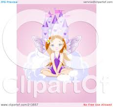 royalty free rf clipart illustration of a fairy sitting on