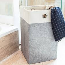grey laundry hamper collapsible laundry hamper maidmax 23 inch height foldable
