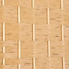 rhf 6 ft tall diamond weave fiber room divider light beige 6