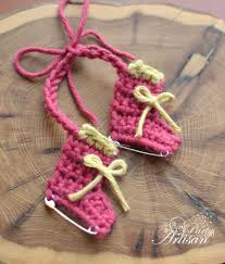 diychristmascrafts diy easy crochet safety pin skates