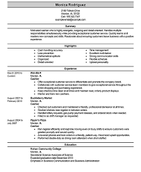 Example Of Cashier Resume by Unbelievable Design Cashier Resume Examples 9 Best Sales Example