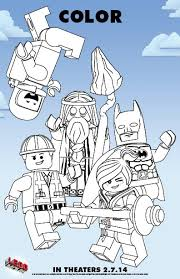 color lego movie free printable coloring pages