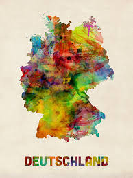 map of deutschland germany germany watercolor map deutschland digital by michael tompsett