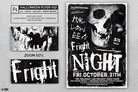halloween flyer template psd to customize easily vol 12