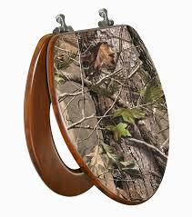Camouflage Bathroom Realtree Camo 3d Image Bamboo Toilet Seat Elongated Baby N Toddler