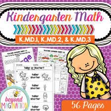 kindergarten common core math no prep worksheets k md 1 k md