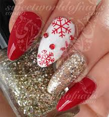 12 red green u0026 white christmas nail art designs u0026 ideas 2016