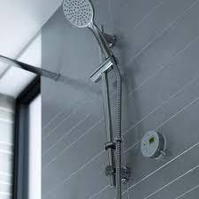 bristan artisan evo digital shower rear fed white