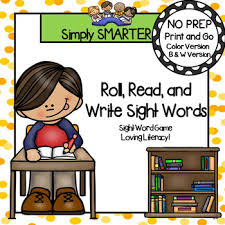Room Dolch Word Games - roll read and write sight words no prep sight word game tpt