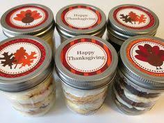 cupcakes in a jar jars thanksgiving happy thanksgiving be