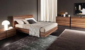 vela italian walnut platform bed by rossetto rossetto bedroom