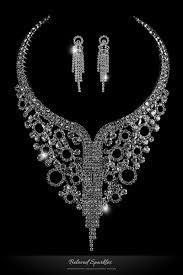 bib necklace rhinestone images Sale necklaces beloved sparkles jpg