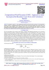 computational fluid dynamics cfd approach to study incompressible u2026