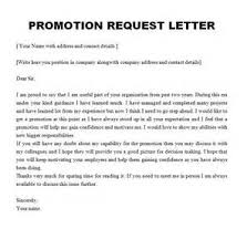 Business Letter Format For Request Promotion Letter Sample For Product Resume Examples