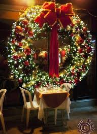 large outdoor lighted wreaths home design