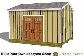 Shed Plans How To Build A Shed ICreatables - Backyard sheds designs
