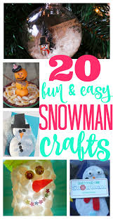 20 fun snowman crafts i can teach my child