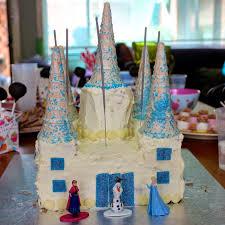 green gourmet giraffe frozen castle birthday cake step step