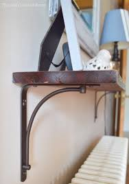 Building Wood Shelf Brackets by Entryway Decor Part 1 Easy Diy Shelf This Old Colonial Home
