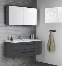 Black Mirror Bathroom Cabinet More Masculine Layout With Grey Gloss Furniture And Black Handles