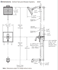 Bathroom Shower Systems Inspiration Standard Tub Shower Size Home Design Ideas