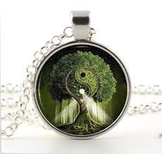 tree necklace tree of pendant silver necklace yin and
