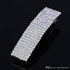 barrette clip 7 row rhinestone hair clip barrette womens fashion jewelry hair