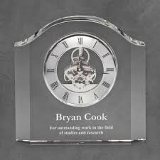 anniversary clocks engraved personalized office desk accessories corporate office gifts