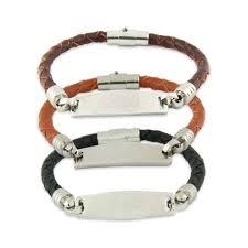 engravable id bracelet leather engravable id bracelet s addiction