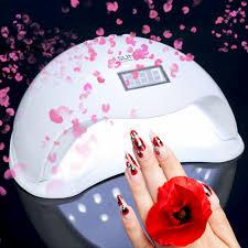 sun 5 48w led uv nail lamp light gel polish cure nail dryer uv